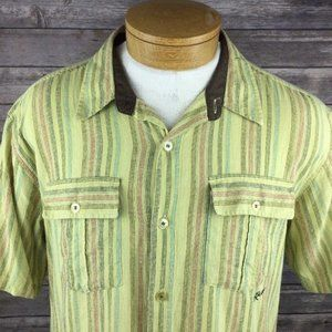 KAVU Men's Short Sleeve Button Down Casual Shirt